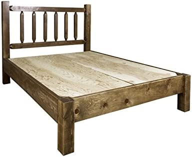 Montana Woodworks Homestead Collection King Platform Bed, Stain Clear Lacquer Finish