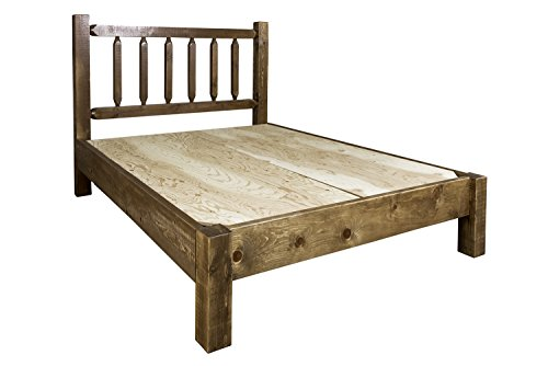 Montana Woodworks Homestead Collection Queen Platform Bed, Stain Clear Lacquer Finish