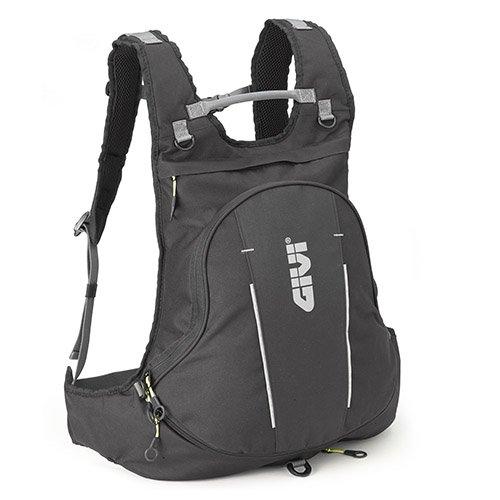GIVI EA104B Zaino Estensibile Easy Bag con Copertina Antipioggia, 24 litri