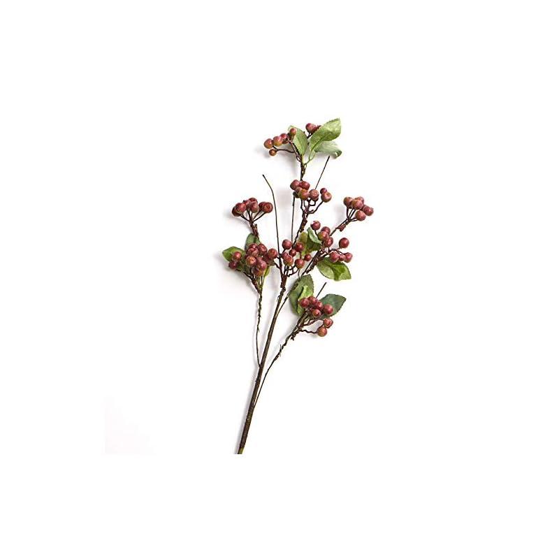 silk flower arrangements artificial green and burgundy hypericum berry spray