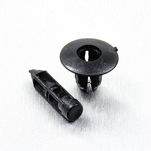 Nylon Black Push Rivet M7
