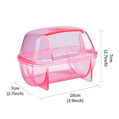 Saim Hamster Bathroom, Small Pets Hamster Bathroom Bath Sand Room Sauna Toilet ( Random Color)