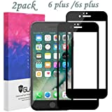 DFSP Compatible IPhone 6 Plus 6S Plus Screen Protector 3D Full Coverage Hard Edge to Edge Tempered Glass Film Anti-fingerprint Oleophobic Anti-Scratch for 5.5 inch (2 Pack) Black