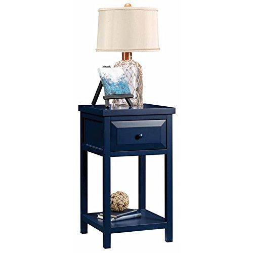 Sauder Cottage Road Side Table, L: 15.16'' x W: 15.16'' x H: 26.54'', Indigo Blue finish by Sauder