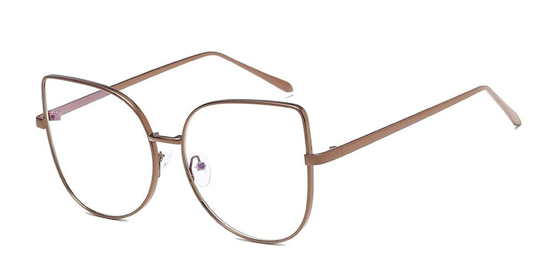 KINDOYO Mode Brille Cateye Metallgestell Brillenfassung ...