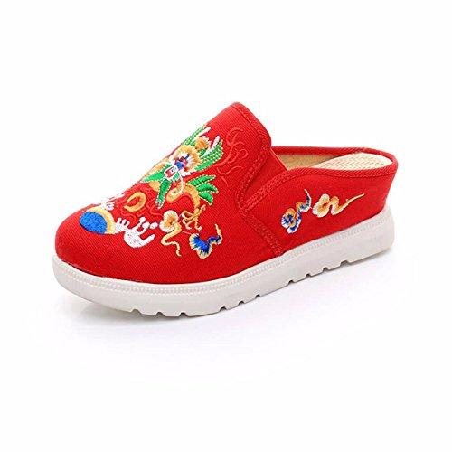 Beijing Zapatos Tela Zapatos Pie Thirty Aumentar Bordados De Puso Tela Old four Mujer GTVERNH Un SIYwqxtx