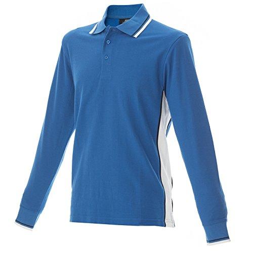 Polo Cotone Lunga Colletto Royal shirt Con Lavoro Malta Chemagliette Manica Jrc bianco Piquet Uomo Da T q0CAAdwv