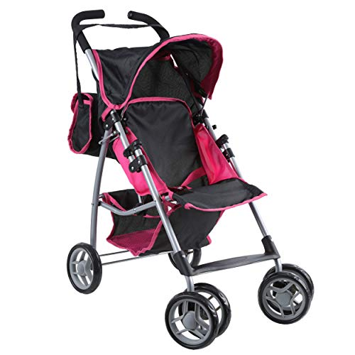 Mommy & Me Doll Stroller Swiveling Wheels with Free Carriage Bag 9351A (Best Stroller For Older Kids)