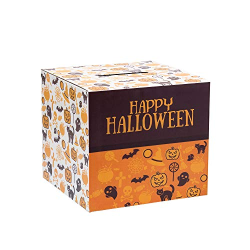 Source One Deluxe Cardboard Donation Box, Pack of 10, Lightweight & Customizable (Large, Halloween)]()