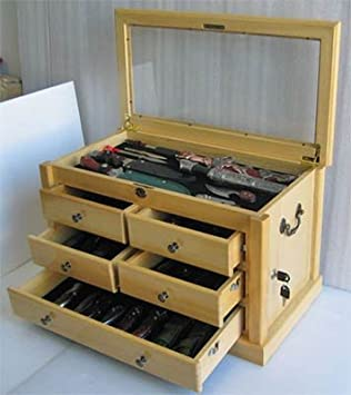 Amazon.com: Collector's Choice Knife Display Case Cabinet, Tool ...