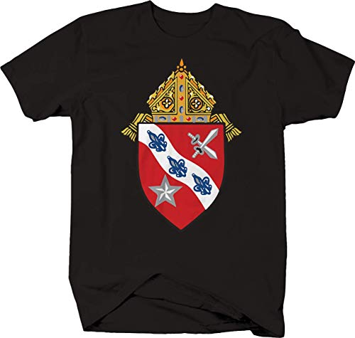 Tee Square Medevil Knight Shield Coat of Arms Tshirt for Men 2XL Black ()