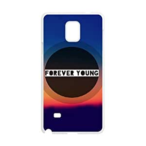 New Fashion Hard Back Cover Case for Samsung Galaxy Note 4 with New Printed Forever Young Watercolor