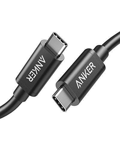 [Intel Certified] Anker Thunderbolt 3.0 Cable (USB-C to USB-C) Supports 100W Charging / 40Gbps Data Transfer (Compatible with USB 3.1 Gen 1 and 2), Perfect for Type-C Macbooks - 1.6 ft by Anker