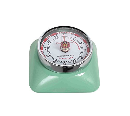 Magnetic 55 Minute Kitchen Timer Square - Mint Green