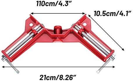 Carpentry Square 90 Degree Right Angle Picture Frame Corner Clamp Holder Woodworking Hand Kit Red 4Pcs