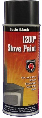 MEECO'S RED DEVIL 405 Spray Paint, Satin Black (Black Paint Fireplace)