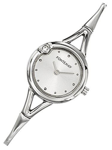 Fontenay , UA336ZAB , Montre Femme Acier , Quartz Analogique , Ronde , Cadran Blanc , Bracelet Semi Rigide Acier Amazon.fr Montres