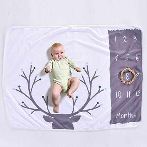 MonthlyMilestoneBlanket: Baby Blanket Printed Polar Fleece Baby Milestone Blanket Photography Props Micro Fleece Baby Newborn Photography Blanket