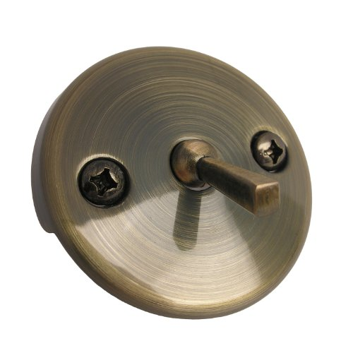 LASCO 03-1405 Bathtub Waste and Overflow Trip Lever Faceplate with Two Screws, Antique Bronze - Antique Bronze Tub