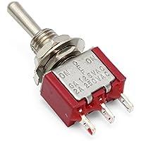 GOZAR Mini Metal Rojo Encendido/Apagado Pequeño Interruptor De