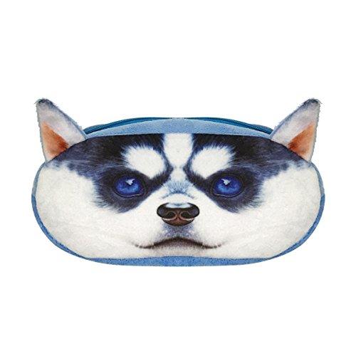 wrapables Hund/Katze Gesicht Reißverschluss Federtasche (Set von 2) Pug & Husky Pug & Husky