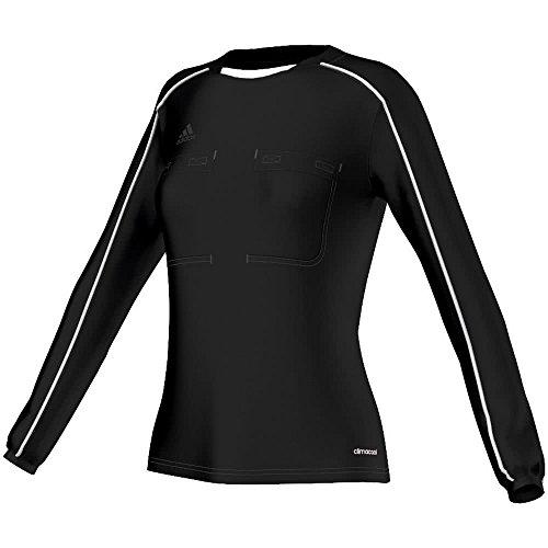 Adidas Árbitro Ls Nero Donna Ref16 W nero bianco Maglietta Con Jsy Lunga Manica 2016 rUrq8fwxZ