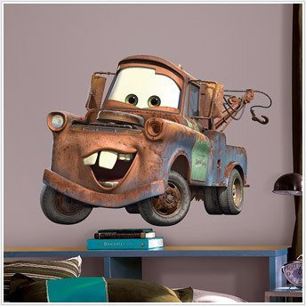 DISNEY CARS Wall Mural Stickers Decal BiG MATER Decor (Disney Cars Mural)