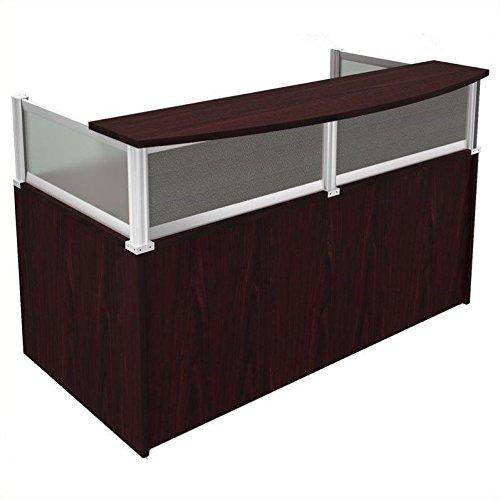 Scranton & Co Reception Desk in Mahogany by Scranton & Co