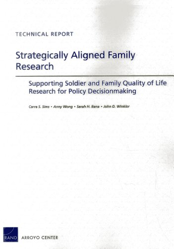 Strategically Aligned Family Research: Supporting Soldier and Family Quality of Life Research for Policy Decisonmaking (Technical Report)