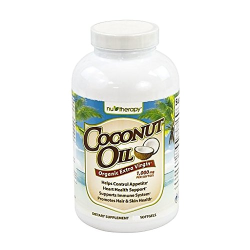 NuTherapy Organic Extra Virgin Coconut Oil Dietary Supplement Heart Healthy -120 ct