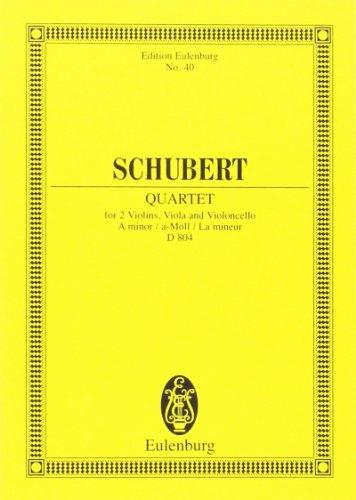 Quat.Crds D804 Op.29 la min. Rosamunde - Cond.Poche