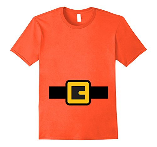 College Costume Ideas Cheap (Mens Dwarf Costume Shirt, Halloween Matching Shirts for Group Large Orange)