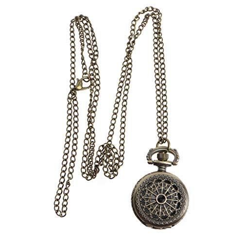 Danyerst Pocket Watch Quartz Spider Web Creative Bronze Fashion Vintage Pendant Charm Hollow Cover Women Men Party Mini Size Portable Necklace Jewelry Watches