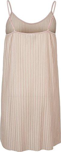 Urban Classics Dames - Robe En Jersey Plissé Rose De Glissement