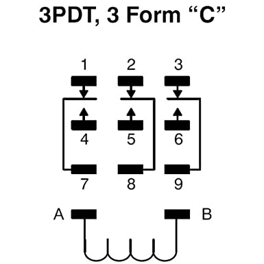 nte electronics r10 14a10 120 series r10 general purpose ac relay rh amazon com 11 Pin 3PDT Relay Pinout 11 Pin 3PDT Relay Pinout