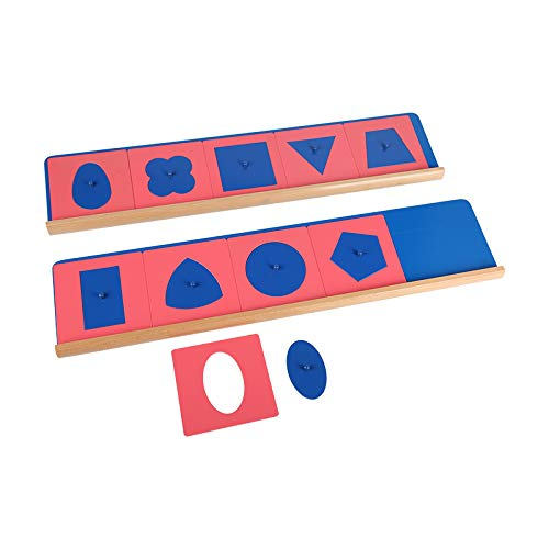 Montessori Education Metal Insets with 2 Stands Shapes Set