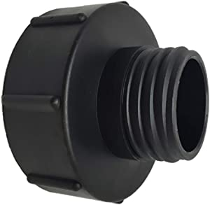 SENRISE IBC Tank Adapter Plastic Hose Tap Connector S100x8 Coarse Threaded Cap to S60x6 Water Butt Tap Adapter for IBC Ton Valve
