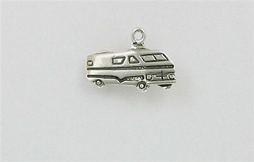 Sterling Silver RV Recreational Vehicle Charm Jewelry Making Supply, Pendant, Charms, Bracelet, DIY Crafting by Wholesale Charms (Best Toad For Rv)