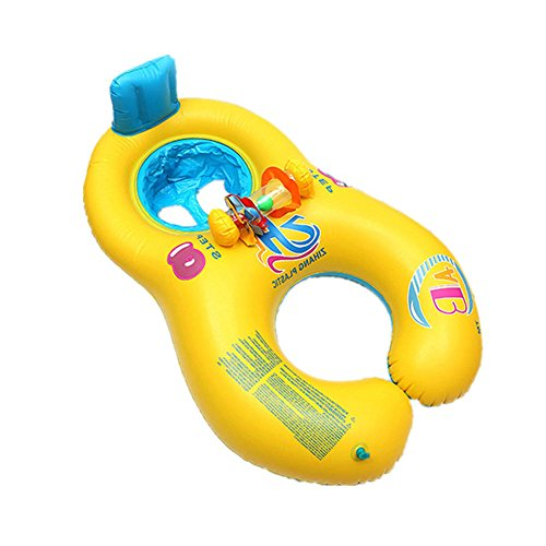 Qjoy Safe Soft Inflatable Mother Baby Swim Float Ring Dou...