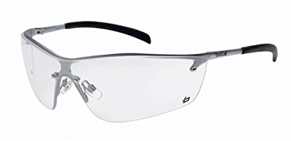 f058c38ff034 Bollé Safety 253-SM-40073 Silium Safety Eyewear with Silver Metal + ...