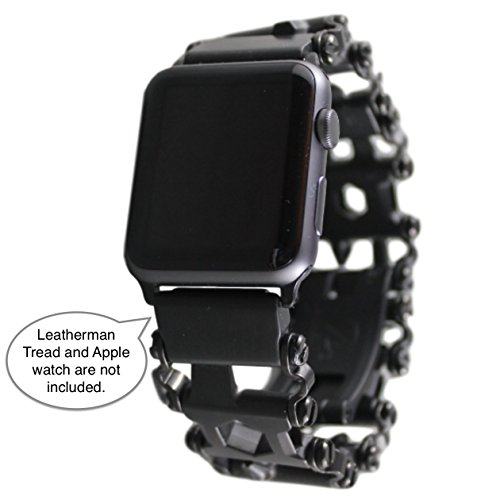 BestTechTool LEATHERMAN TREAD Watch Adapter- Leatherman watch link (compatible with Apple watch 42mm, BLACK, TREAD)