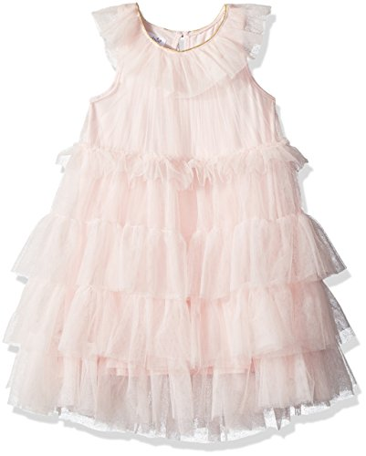 Mud Pie Baby Girls Mesh Tiered Sleeveless Dress, Pink, 3T (Mud Pie Dresses Girls 3t)
