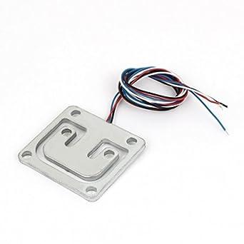 Uxcell® 100 kg 42 mmx38mmx3 mm cuerpo de la báscula electrónica celda de carga Sensor de pesaje: Amazon.es: Amazon.es