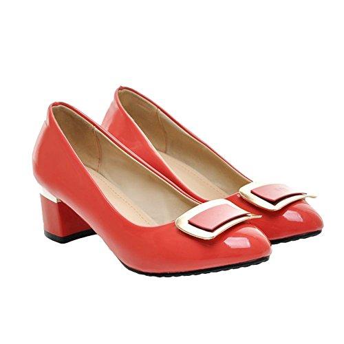 Chaussures Mee Des Femmes Des Mi-talon Doux Scintille Escarpins Bureau Pastèque