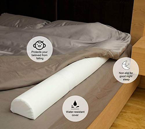 Light Ease Toddler Bed Side Safety Foam Guard Rails Bumpers with Hook&Loop Strips(pack of 1)
