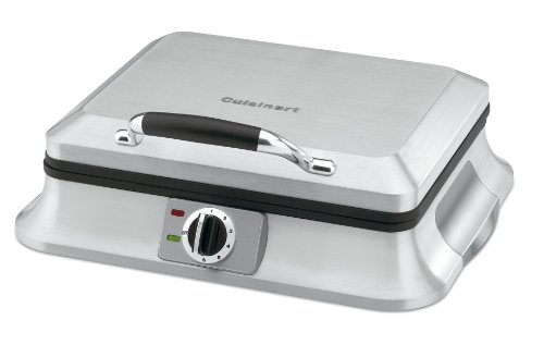 Cuisinart WAF-6 Traditional-Style 6-Slice Waffle Iron, Brushed Stainless Steel