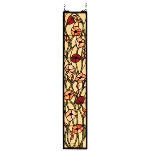 Meyda Tiffany 73266 6.5 W 36.5 inch H Poppies Sidelight Windows ()