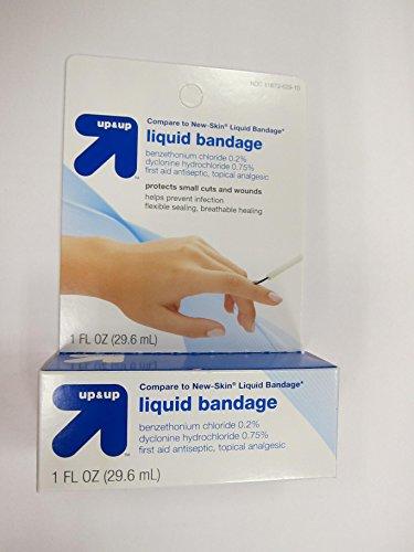 Up & Up Liquid Bandage, 1 fl oz (Compare New-Skin Liquid Bandage) (Pack of 2) by up4