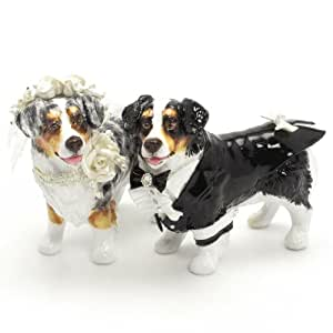 Amazon.com: Australian Shepherd Dog Wedding Cake Toppers