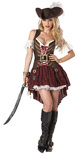 [UHC Women's Sexy Swashbuckler Pirate Theme Party Halloween Dress, 2XL (16-18)] (Sexy Swashbuckler Adult Womens Plus Size Costumes)